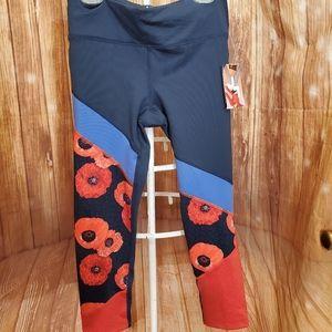 Joy Lab Poppy Design Leggings Sz XS